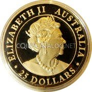 Australia 25 Dollars (Hand of Faith) ELIZABETH II AUSTRALIA 25 DOLLARS JC coin obverse