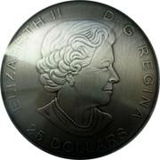 Canada 25 Dollars The Library of Parliament. Piedfort 2016 Proof KM# 2219 ELIZABETH II D G REGINA 25 DOLLARS coin obverse