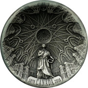 Canada 25 Dollars The Library of Parliament. Piedfort 2016 Proof KM# 2219 1876 CANADA 2016 coin reverse