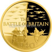 UK 25 Pounds (Battle of Britain) THE BATTLE OF BRITAIN GB 1940 coin reverse