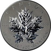 Canada 3 Dollars (Maple Leaf) KM# 1408 9999 CANADA FINE SILVER 1/4 OZ ARGENT PUR coin reverse
