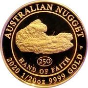 Australia 5 Dollars Hand of Faith 2020P Proof AUSTRALIAN NUGGET 250 HAND OF FAITH P 2020 1/20 OZ 9999 GOLD coin reverse