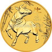Australia 5 Dollars (Year of the Ox) 牛 OX 2021 P IJ coin reverse