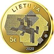 Lithuania 5 Euro Agricultural Sciences 2020LMK Proof LIETUVA 5€ LMK 2020 coin obverse
