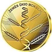 Lithuania 5 Euro Agricultural Sciences 2020LMK Proof ŽEMĖS ŪKIO MOKSLAI coin reverse