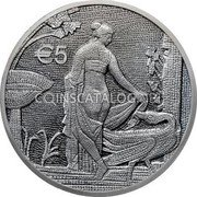 Cyprus 5 Euro (Leda and the Swan) € 5 coin reverse