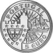 Portugal 5 Euro Leonor de Portugal 1998 X# 72 PORTUGAL 5 EURO coin obverse