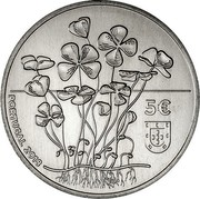Portugal 5 Euro The Four Leaf Clover 2018INCM PORTUGAL 2018 5€ coin obverse