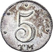 Russia 5 kopeks KM# 88 Catherine II Milled Coinage 5 TM coin reverse