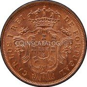 Portugal 5 Reis 1901 KM# 16 Portuguese Administration Provincial coinage coin obverse