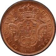 Portugal 5 Reis 1901 KM# 16 Portuguese Administration Provincial coinage CARLOS I REI DE PORTUGAL coin obverse