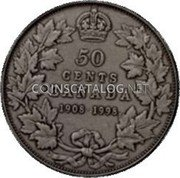 Canada 50 Cents (90th Anniversary of Royal Canadian Mint. Matte) KM# 313 50 CENTS CANADA 1908 1998 coin reverse