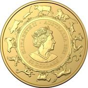 Australia 50 Dollars Year of the Ox 2021 UNC ELIZABETH II AUSTRALIA 2021 50 DOLLARS JC coin obverse