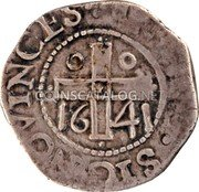 Portugal 50 Reis Kingdom Countermarked coinage (870 Reis) IN HOC SIGNO VINCES 16 41 coin reverse