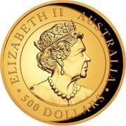 Australia 500 Dollars Australian Wedge-tailed Eagle 2020 P ELIZABETH II AUSTRALIA 500 DOLLARS coin obverse