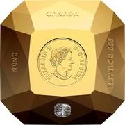 Canada 500 Dollars Forevermark Diamond 2020 Proof 2020 CANADA 500 DOLLARS ELIZABETH II D G REGINA coin obverse