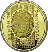 Portugal 500 Escudos (150th Anniversary of the Bank of Portugal) KM# 702b BANCO DE PORTUGAL BANCO DE PORTUGAL 1846·1996 coin reverse