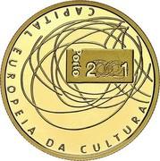 Portugal 500 Escudos European Culture Capital 2001 INCM Proof KM# 733a 2001 CAPITAL EUROPEIA DA CULTURA PORTO coin reverse