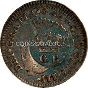 Portugal 60 Reis (Countermarked issue over 1/2 Real Carlos III Mexico) CAROLUS·III· DEI.GRATIA coin obverse