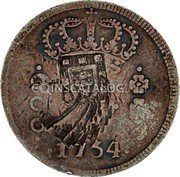 Portugal 600 Reis (Countermarked issue over 600 Réis José I Brazil)  coin reverse
