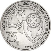 Portugal 7,5 Euro 500th Anniversary of Magellan circun-navigation: The Passage of the Strait 2020INCM 2020 PORTUGAL CIRCUM NAVEGAÇÃO 7,5 € 1519-1522 coin obverse