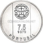 Portugal 7,5 Euro (Arquiteto Goncalo Byrne) 7,50 euro PORTUGAL coin obverse