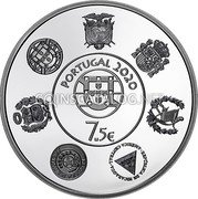 Portugal 7,5 Euro (Historical trains) PORTUGAL 2020 7.5€ coin obverse