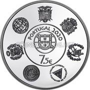 Portugal 7.50 € (Ibero American Series. Coloured) PORTUGAL 2020 7.5€ coin obverse