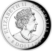 Australia 8 Dollars Australian Wedge-tailed Eagle 2020 P ELIZABETH II AUSTRALIA 8 DOLLARS coin obverse