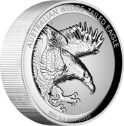 Australia 8 Dollars Australian Wedge-tailed Eagle 2020 P AUSTRALIAN WEDGE-TAILED EAGLE 2020 5OZ 9999 SILVER coin reverse