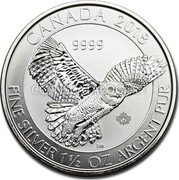 Canada 8 Dollars (Snowy Owl) 2018 9999 CANADA FINE SILVER 1 1/2 OZ ARGENT PUR coin reverse
