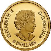 Canada 8 Dollars Triumphant Dragon 2021 CANADA 2021 AKH coin reverse