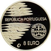 Portugal 8 Euro 2005 INCM Proof KM# 773a Euro coinage coin obverse