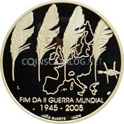 Portugal 8 Euro 2005 INCM Proof KM# 773a Euro coinage coin reverse