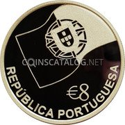 Portugal 8 Euro 2006 INCM Proof KM# 778a Euro coinage coin obverse