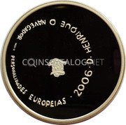 Portugal 8 Euro 2006 INCM Proof KM# 776a Euro coinage coin reverse