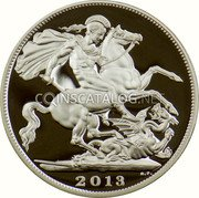 UK Five Pounds (Birth of Prince George of Cambridge) 2013 B.P. coin reverse