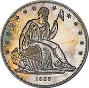 USA One Dollar (Gobrecht Dollar Pattern (Copper)) LIBERTY 1838 coin obverse