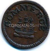 UK One Farthing (1 фартинг,) COMMERCE coin obverse