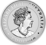 Australia 1 Dollar Australian Wedge-tailed Eagle 2021 P ELIZABETH II AUSTRALIA 2021 1 DOLLAR coin obverse