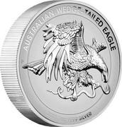 Australia 1 Dollar Australian Wedge-tailed Eagle 2021 P AUSTRALIAN WEDGE-TAILED EAGLE 2021 1 OZ 9999 SILVE coin reverse