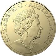 Australia 1 Dollar Centenary of Rotary in Australia 2021 ELIZABETH II AUSTRALIA 2021 coin obverse