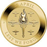 Australia 1 Dollar (Lest We Forget - RAAF 100 Years) P 25 APRIL LEST WE FORGET coin reverse