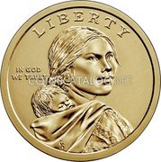 USA 1 Dollar (Native Americans) LIBERTY IN GOD WE TRUST GG coin obverse