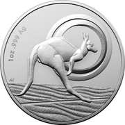 Australia 1 Dollar Outback Majesty. Frosted 2021 1 OZ .999 AG coin reverse