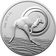 Australia 1 Dollar (Outback Majesty. Frosted) 1 OZ .999 AG coin reverse