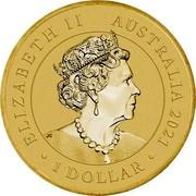 Australia 1 Dollar Quokka 2021 P ELIZABETH II AUSTRALIA 2021 1 DOLLAR coin obverse