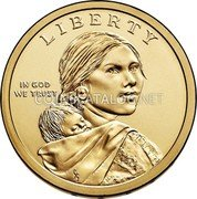 USA $1 (Lewis and Clark Expedition) KM# 575.1 LIBERTY IN GOD WE TRUST coin obverse