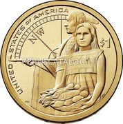 USA $1 (Lewis and Clark Expedition) KM# 575.1 UNITED STATES OF AMERICA N/W $1 coin reverse