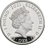 UK 1 Pound 50th Anniversary of Little Miss 2021 ELIZABETH II D G REG F D 1 POUND 2021 coin obverse